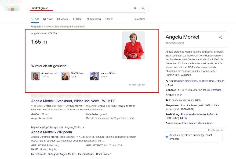 google-serps-know-simple-query-angela-merkel-körpergröße